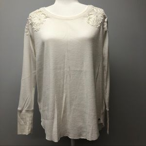American Eagle Lace and Thermal Tee